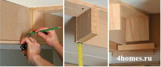 Изготовление кессонного потолка своими руками