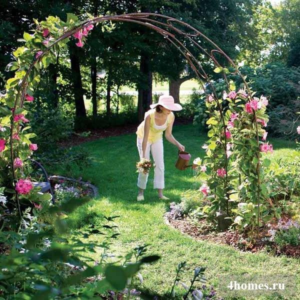 Арки своими руками в саду