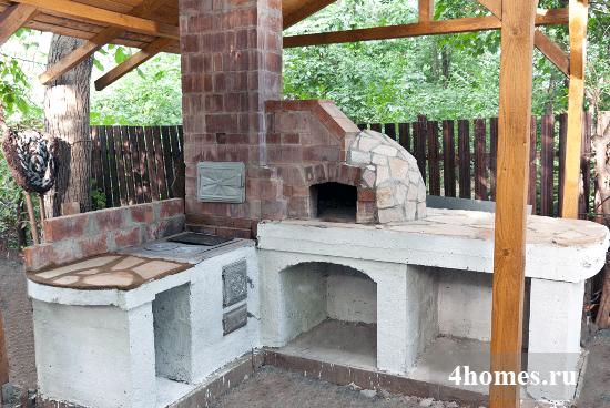 При строительстве летней кухни
