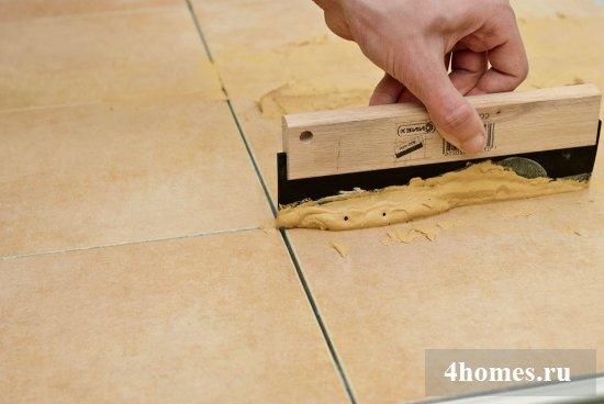 Затирка для швов плитки на кухне своими руками
