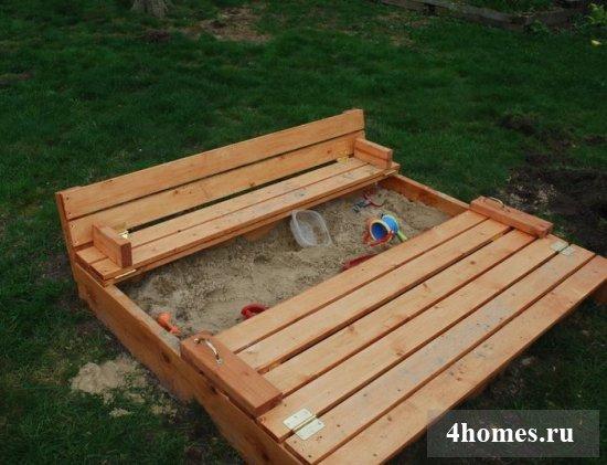 Детская песочница: делаем