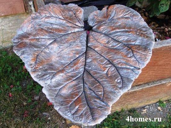 Листья из бетона