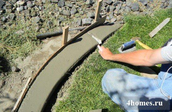 Бордюр своими руками из бетона 9