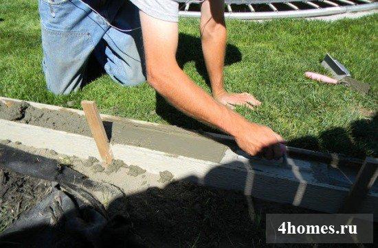 Бордюр своими руками из бетона 87