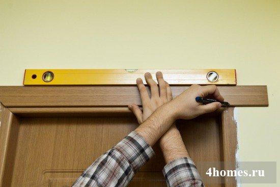 Как сделать дверь с угла ком если