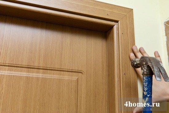 Дверные наличники установка своими руками