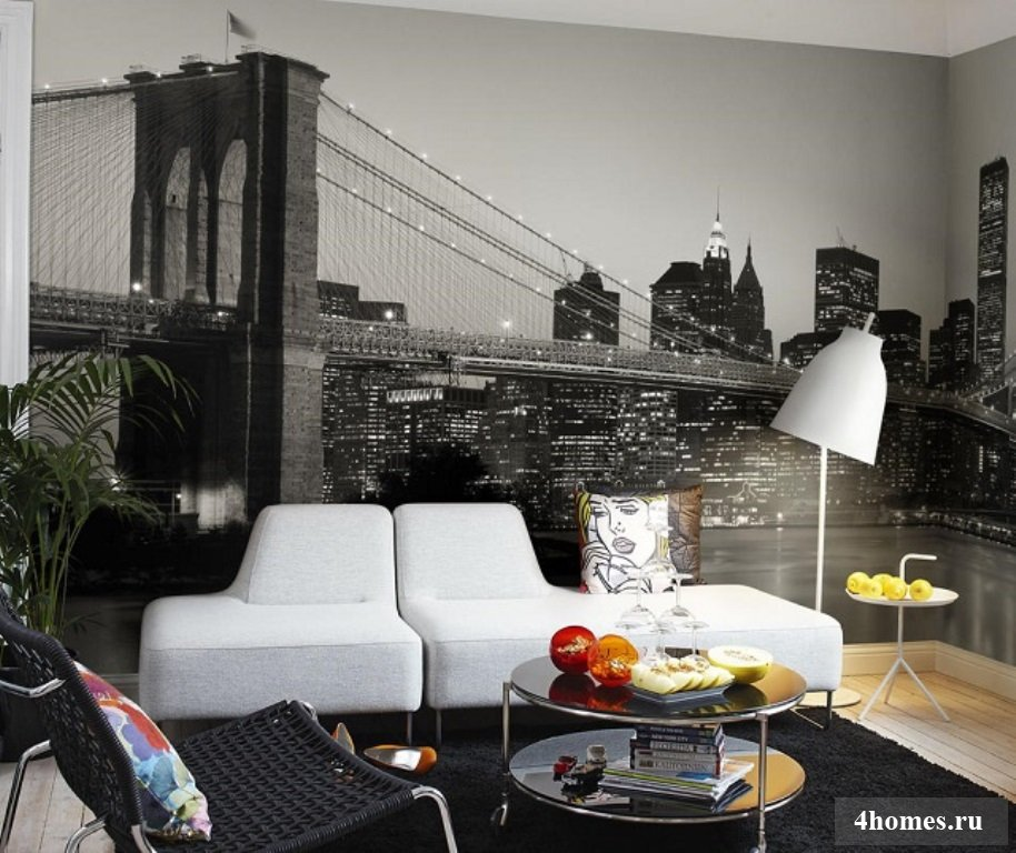 Черно белые фото в интерьере фото