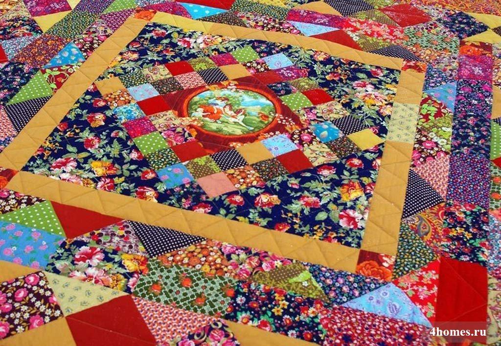 Лоскутное шитье одеяло своими руками 51