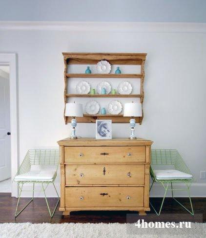 Винтажные комоды из дерева в интерьерах разных комнат