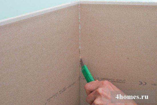Как резать гипсокртон