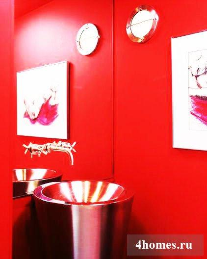 Дизайн комнаты в красных тонах