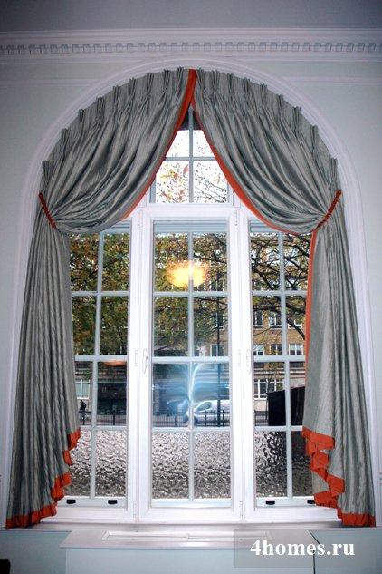 шторы на арочные окна