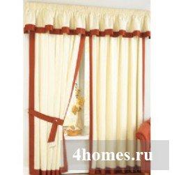 простые шторы с окантовкой