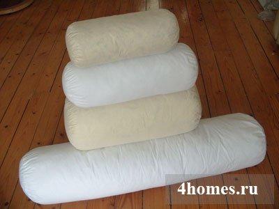 Подушка валик фото своими руками