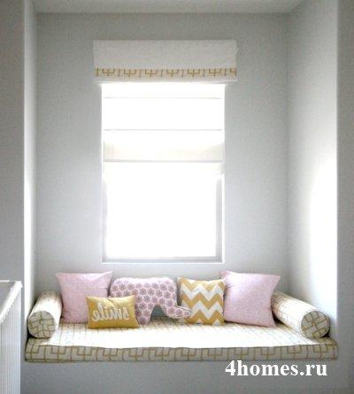 Диванная подушка-валик своими руками