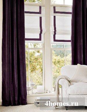 Шитье штор с лентой