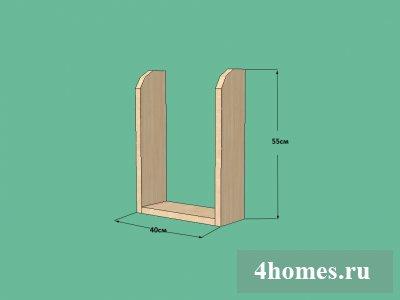 Кухонная полочка для бумажных полотенец и бытовой химии