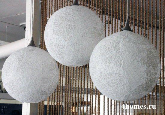 Красивые светильники-шары своими руками