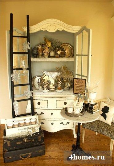 Новогодние украшения для дома в стиле винтаж