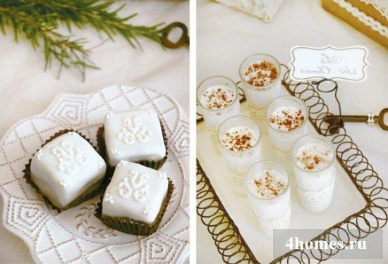 Украшение новогоднего стола: десертный буфет в стиле Прованс