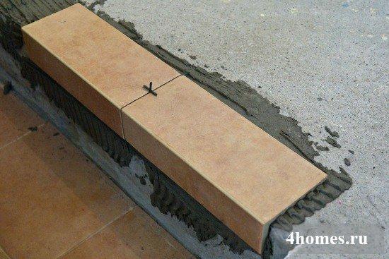 Укладка плитки для ступеней: шаг за шагом