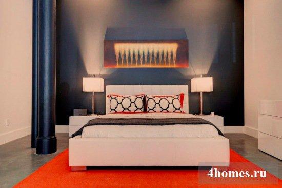 Стильное пространство: черно белая спальня