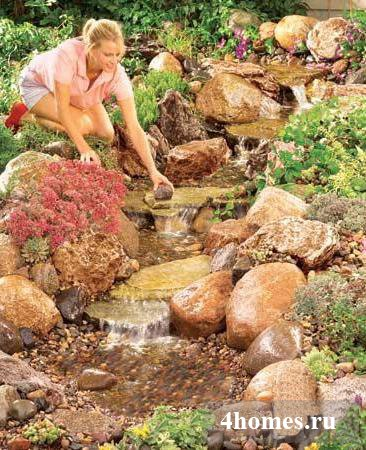 Водопад своими руками