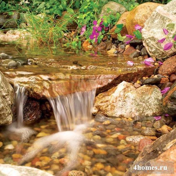 Водопад своими руками на приусадебном участке