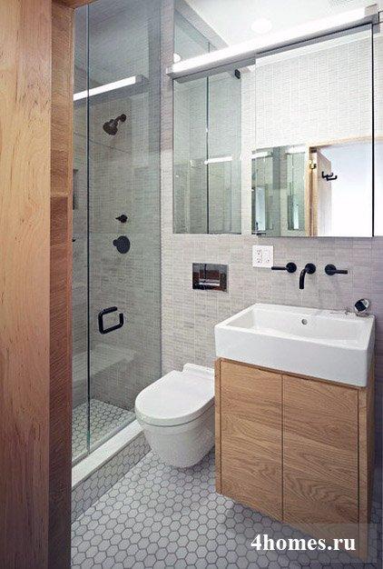 , интерьер маленькой ванной