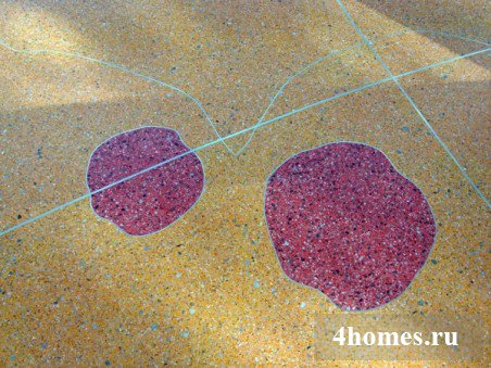 бетонные полы с мраморной крошкой