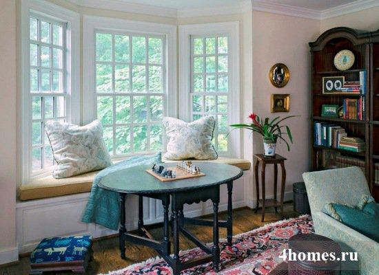Как оформить интерьер комнаты с эркером?