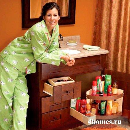 Делаем тумбу под раковиной в ванной более удобной и функциональной