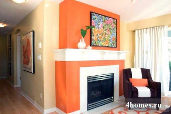 Самые счастливые цвета: сочетание желтого и оранжевого в интерьере