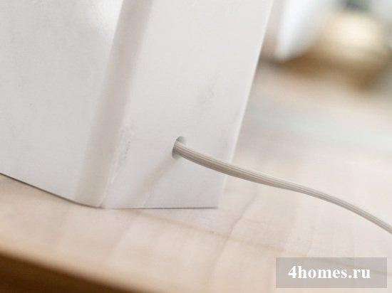 Настольная лампа своими руками из мраморной плитки