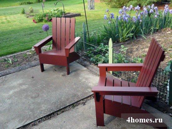 Кресло-шезлонг для дачи своими руками