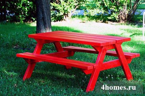 Практичный стол для пикника своими руками