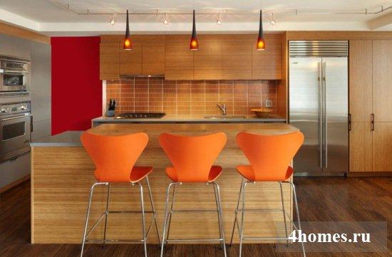 дизайн кухни красный