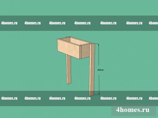 Простая конструкция для вертикального озеленения