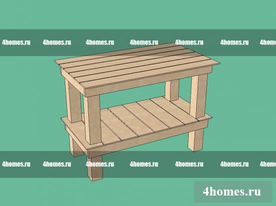 Potting Bench, рабочий стол садовода
