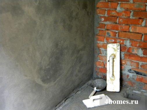 отделка стен штукатуркой