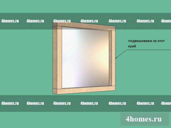 как сделать рамки для зеркала