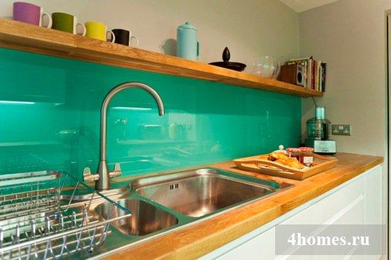 Кухонные фартуки из стекла - модное решение