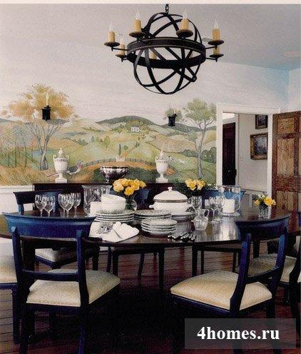 Фрески на стены как изысканный элемент интерьера