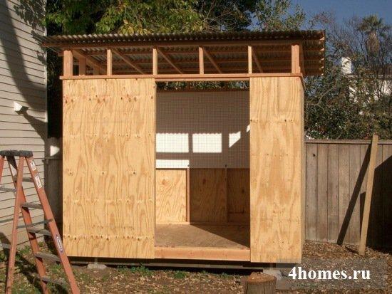 Как построить сарай своими руками - строительство 15