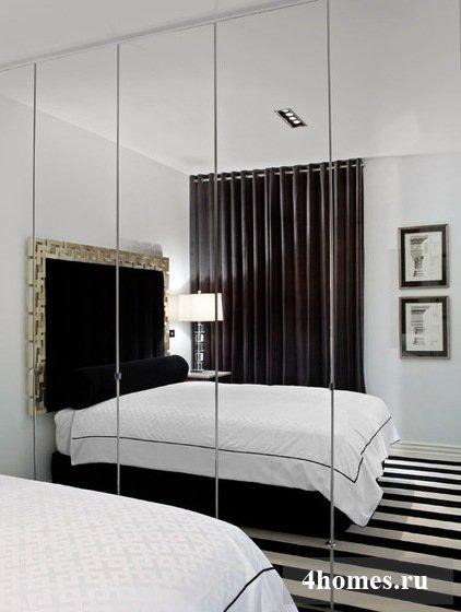 зеркала в интерьере спальни