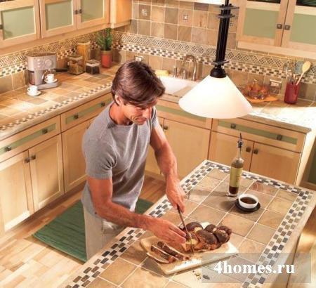 Как сделать столешницу из кафеля