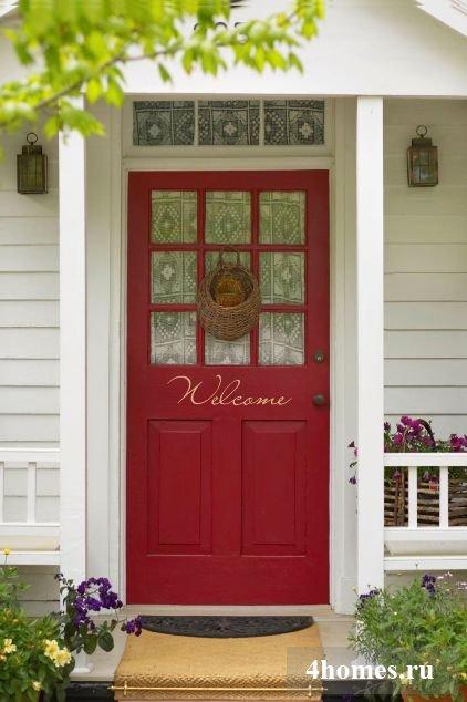 Цвет входной двери в дом
