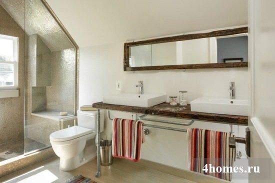 отделка ванных комнат деревом