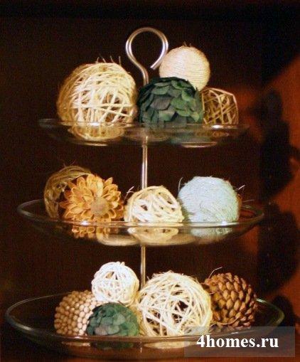 Декоративные шары для украшения интерьера