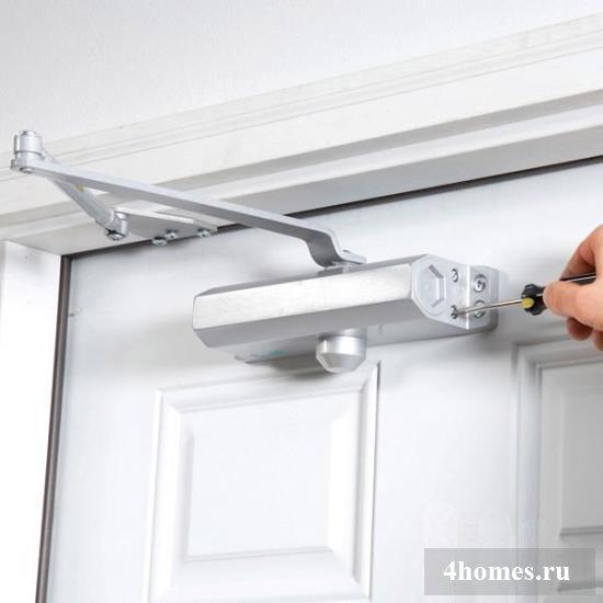 Установка доводчика для двери своими руками